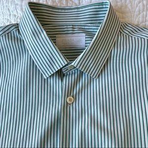Authentic Prada striped button down shirt